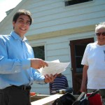 "Councilmember Frongillo talks with residents about saving energy for ""Lighten Up Caroline"""