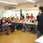 Deputy Supervisor Frongillo discusses public service with high school students