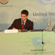 Dominic takes questions at U.N. Press Conference