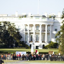 Standing up to the Tar Sands pipeline  at the White House in Washington, D.C.