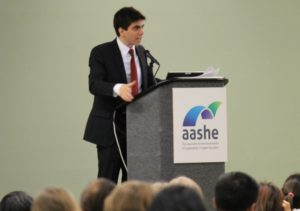 Dominic Frongillo keynotes 2016 Association for Advancement of Sustainability in Higher Education (AASHE) in Baltimore