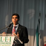 Deputy Supervisor Frongillo addressing ICLEI World Congress, Belo Horizonte, Brazil